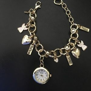 Angels Watch & Charm Bracelet Blessed Hope Peace